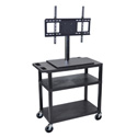 Luxor ET34E-B Mobile Cart with Universal LCD TV Mount - 32W x 18D x 54.5H