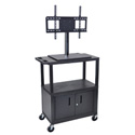 Luxor ET38CE-B Mobile Cart with Universal LCD TV Mount - 32W x 18D x 57.5H