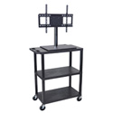 Luxor ET38E-B Mobile Cart with Universal LCD TV Mount - 32W x 18D x 57.5H