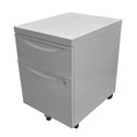 Luxor KDPEDESTAL-GY Mobile Pedestal File Cabinet with Locking Drawer - Grey