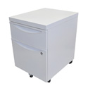 Luxor KDPEDESTAL-WH Mobile Pedestal File Cabinet with Locking Drawer - White