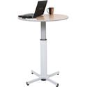 Luxor LX-PNADJ-ROUND - Pneumatic Adjustable Round Pedestal Table