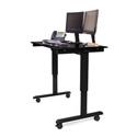 Luxor STANDE-48-BK/BO 48 Inch Electric Standing Desk - Black Frame/Black Oak