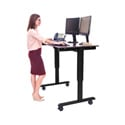 Luxor STANDE-48-BK/DW 48 Inch Electric Standing Desk - Black Frame/Dark Walnut