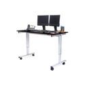 Luxor STANDE-60-AG/BO 60 Inch Electric Standing Desk - Silver Frame/Black Oak