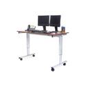 Luxor STANDE-60-AG/DW 60 Inch Electric Standing Desk - Silver Frame/Dark Walnut