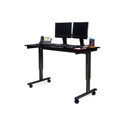 Luxor STANDE-60-BK/BO 60 Inch Electric Standing Desk - Black Frame/Black Oak