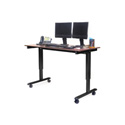 Luxor STANDE-60-BK/DW 60 Inch Electric Standing Desk - Black Frame/Dark Walnut
