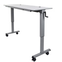 Luxor STAND-NESTC-60  Adjustable Flip Top Table  with Crank Handle -  60 Inch