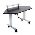 Luxor STANDUP-CCF60-B 60 Inch Crank Adjustable Standing Corner Desk