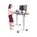 Luxor STANDUP-CF48-DW 48 Inch Crank Adjustable Stand Up Desk