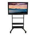 Luxor WFP200-B Universal LCD TV Stand - Two Shelves