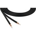 Canare LV-61S RG59 75 Ohm Video Coaxial Cable by the Foot - Black