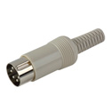 LXS52 5 Pin Din Connector-240 Degree Male Cable End
