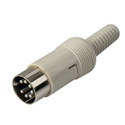 LXS71 7-Pin Male Jack DIN Connector Cable End