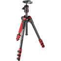 Manfrotto MKBFRA4R-BH BeFree Tripod with Ball Head - Red