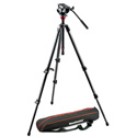 Manfrotto MVH500AH-755CX3 Lightweight Fluid Video System / Carbon Legs / MDeVe