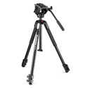 Manfrotto MVK500190X3 - MT190X3 Aluminum 3-Section Tripod with MVH500AH Lightweight Fluid Video Head