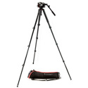 Manfrotto MVK504AQ 504 Video Fluid Head with MVT535AQ Aluminum Leg Tripod and Carry Bag