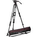 Manfrotto MVKN12TWINGUS Nitrotech N12 Video Head with 545GB Aluminum Twin Leg Tripod Ground Spreader and Carry Bag