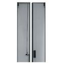 Middle Atlantic MW-CLVRD-45 Split Vented Rear Door - 45 RU Rack - Black Finish