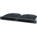 Middle Atlantic QBP-2A 1 Rackspace Quiet Blower Panel - Black Anodized - 120V