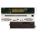 Marshall AR-DM22-B 16 Channel Digital Audio Monitor 2RU Mainframe w/Tri-LED Bar