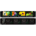 Marshall V-MD434 Quad LCD Rack Mount with No Input Modules