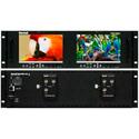 Marshall V-MD72-HDSDIx2 Dual 7 Inch LCD Rack Mount Monitor