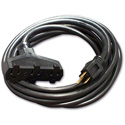 Milspec D13212100BK ProPower Tri-Tap Cordset 12/3 AC Extension Cord Black - 100 Foot