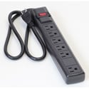 Milspec D155200BK 6 Outlet ABS Power Strip - Black