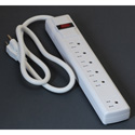 Milspec D155200WT 6 Outlet Power Strip with 3 Foot Cord