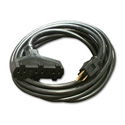 Milspec D15623010 ProPower Tri-Tap Cordset 12/3 AC Extension Cord Black 10 Foot