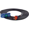 Milspec D17228025 ProGlo Tri-Tap 12/3 AC Extension Cord w/CGM Black - 25 Foot