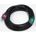 Milspec D17448050 ProGlo Cordset 12/3 AC Extension Cord w/CGM Black - 50 Foot