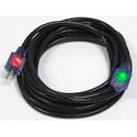 Milspec D17448100 ProGlo Cordset 12/3 AC Extension Cord w/CGM Black - 100 Foot