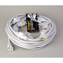 Milspec D19005482 Multi-Outlet 16/3 AC Distribution Extension Cord White 50 Foot