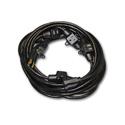 Milspec D19006339 Multi-Outlet 14/3 AC Distribution Extension Cord Black 32.5 Fo