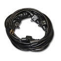 Milspec D19006340 Multi-Outlet 14/3 AC Distribution Extension Cord Black 52.5 Foot