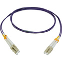 Camplex MMDM4-LC-LC-001 OM4 10/40/100G Multimode Duplex LC to LC Fiber Patch Cable - Purple - 1 Meter