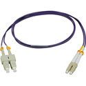 Camplex MMDM4-LC-SC-001 OM4 10/40/100G Multimode Duplex LC to SC Fiber Patch Cable - Purple 1 Meter