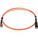 1-Meter 62/125 Fiber Optic Patch Cable Multimode Simplex ST to SC - Orange