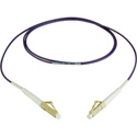 Camplex MMSM4-LC-LC-001 OM4 10/40/100G Multimode Simplex LC to LC Fiber Patch Cable - Purple 1 Meter