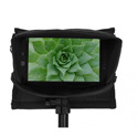PortaBrace MO-702 Monitor Case for the SmallHD 702 in Black with Fold out Viser