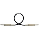 Mogami Audio Cable 1/4-Inch TRS Balanced Male to Male 1.5 Foot - Black