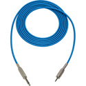 Mogami Audio Cable 1/4-In TS Male to 3.5mm Mini TRS Male  3 Foot - Blue