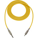 Mogami Audio Cable 1/4-In TS Male to 3.5mm Mini TRS Male  3 Foot - Yellow