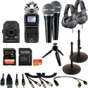 ZOOM Q2n-4K Video Podcast Kit with ZOOM H5 Handy Recorder/SHURE PGA48 Mics/Audio-Technica ATH-M20x Headphones