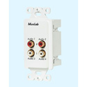 MuxLab 500033-WP-US Quad Audio Wallplate Balun - US