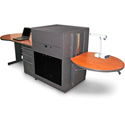 Marvel MVLDM7230CHDT-E Desk/Lectern - Steel Door; Earpiece Mic - Cherry
